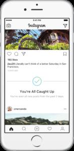 Nouvelle fonctionnalité instagram : vous êtes à jour