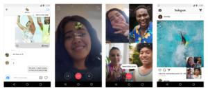 Fonctionnalité chat vidéo en temps réel sur Instagram