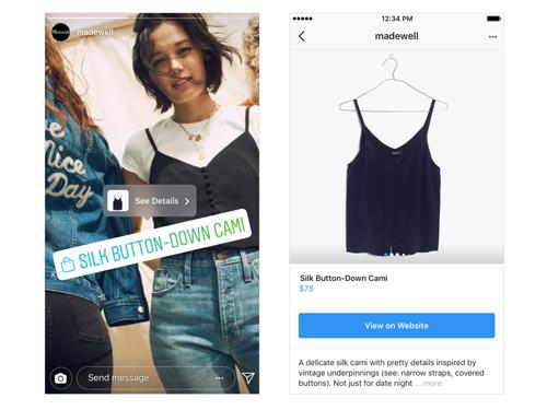Fonctionnalité shopping dans instagram - Agence de communication AKINAI