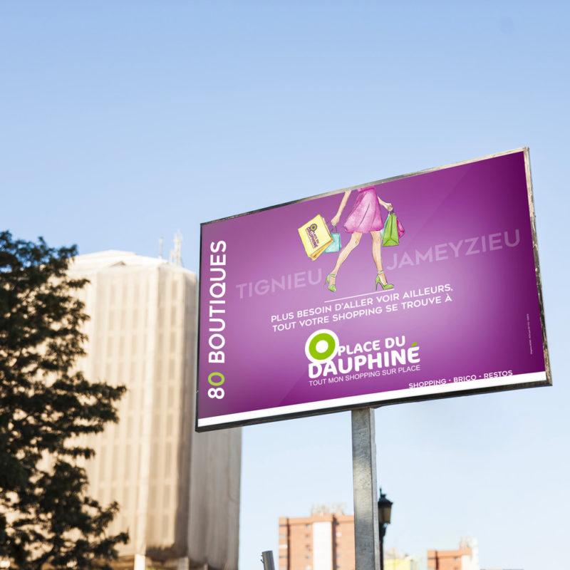 Affichage Place du Dauphiné - Agence de communication AKINAÏ
