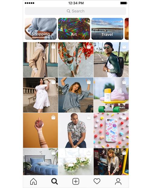 Instagram et sa fonctionnalité Shopping dans Explore - Agence de communication lyon AKINAI
