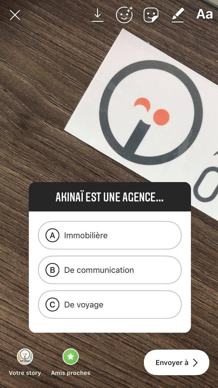 Sticker_Quiz_Instagram_Agence_de_communication_Akinai